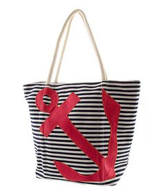 Loving this Red & Navy Bold Anchor Tote on #zulily! #zulilyfinds