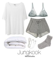 """""""Rainy Day In with Jungkook"""" by btsoutfits ❤ liked on Polyvore featuring Acne Studios and I.D. SARRIERI"""