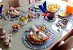 Decoração da Mesa do Almoço de Páscoa
