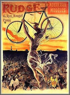 Cycles Rudge 1890 French Vintage Poster
