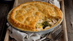 Chicken, Sweetcorn and Broccoli Pie. This is the perfect meal for the whole family. Before adding the pastry on top of the pie, you could cool the filling and then freeze it to use another day.