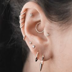 Woukd love to get daith on both ears. Center of cartilage on one and two hoops side by side on other cartilage