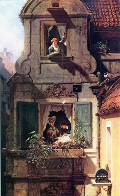 The Intercepted Love Letter, 1860, by  Carl Spitzweg (February 5, 1808 – September 23, 1885),  German romanticist painter and poet. He is considered to be one of the most important artists of the Biedermeier era. - http://en.wikipedia.org/wiki/Carl_Spitzweg