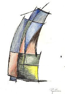 coisas de pintura: Janelas - caneta e lápis de cor- 2002