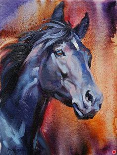 """Indigo Night by Michelle Grant Oil ~ 8 x 6"""""""