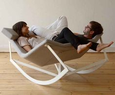 In this two-person rocker. | 44 Amazing Places You Wish You Could Nap Right Now