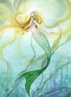 Watercolor Mermaid Paintings | Original Watercolor Painting - Mermaid - Stephanie Pui-Mun Law ...