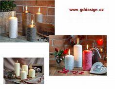 Dekorační svíčky www.gddesign.cz Pillar Candles, Taper Candles, Candles