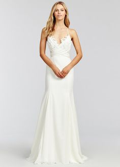 ac28753770b3 Style 1655 Saylor Blush by Hayley Paige bridal gown - Ivory chiffon fit to  flare bridal