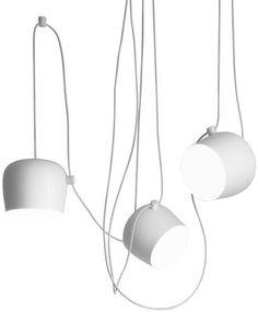 Suspension AIM LED / Ø 24 cm Suspension blanche - Flos