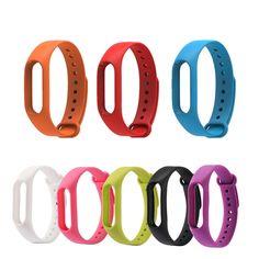 Reemplazar correa de silicona para xiaomi mi banda 2 versión rastreador de ejercicios para mi banda 2 pulsera inteligente 9 color