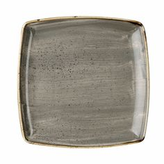 DEEP SQUARE PLATE - 26.8cm (6) - PEPPERCORN GREY