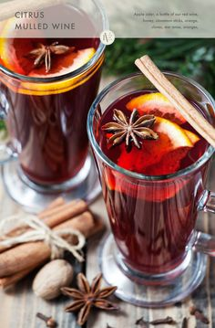 Try a Citrus mulled wine made with any of our red varietals. Serve as an after-dinner drink.