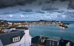 Harbour view of St Ives in Winter at dawn