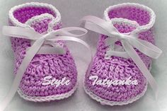 Crochet patterns (PDF) - Baby Boy Booties - Pattern  number 22
