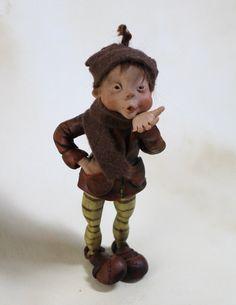 OOAK art doll pixie elf