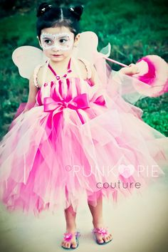 Pretty in Pink Fairy Tutu Costume Dress for Halloween,  Birthdays & Dress up Infant - 5t