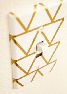 Gold diy switch plate cover