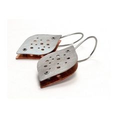Sterling Silver and Copper Riveted Organic Earwear - Beguile