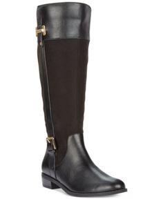 b5727c541d9178 Deliee Wide-Calf Riding Boots
