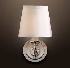 """Ordered - Three at $20 each on sale from $24 ea - ENGLISH-BARREL SHADE for master bathroom sconce x3 Ivory Silk shade shape A - final sale ITEM#68360017  Shade: 6¼"""" diam., 5¾""""H"""