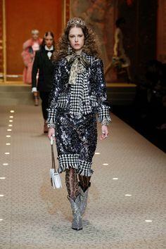 The Dolce Gabbana Fall Winter 2018 19 Women s Fashion Show.   DGFashionDevotion  DGFW19   fc38ca53b06