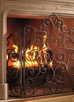 With colder nights quickly approaching, make sure your hearth is protected and beautifully accessorized with the Chandelle Fire Screen; complete with intricate iron scrollwork and a durable mesh screen to protect against sparks.