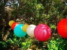 pretty colored lanterns