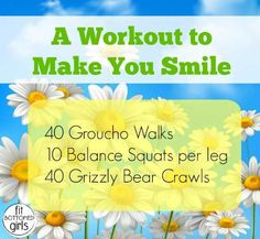 This workout will have you smiling from ear to ear. Add it to your exercise routine for a happier life! (Can also work as a great warm-up before you go running.) And there's a video to show you how to do each move.