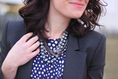 Alicia, of Cheetah is the New Black, in our Cocktail Eclectic Necklace!