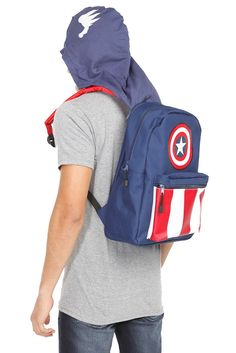 0d01cd1a2be captain america hoodie backpack - hot topic Captain America Hoodie