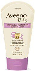 Aveeno Baby Sunblock Lotion  SPF-55  4-Ounce Tube: http://www.amazon.com/Aveeno-Sunblock-Lotion-SPF-55-4-Ounce/dp/B0010XUUHO/?tag=httpbetteraff-20