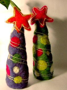 Pinitos de Navidad Afieltrados.