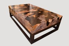 Cracked Resin Coffee Table With Base HOS - Andrianna Shamaris