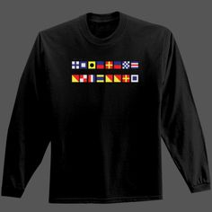 Boating Flag Logo Shirt. With additional Skull and Compass Logo on back of shirt.