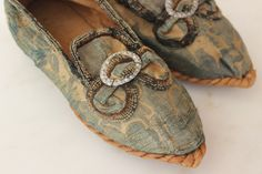 Extremely Rare Rope Soled Children's Silk Brocade Shoes French Early-Mid 18th c in Clothing, Shoes & Accessories, Vintage, Children's Vintage Clothing | eBay