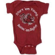 South Carolina Gamecocks Infant Onesie - Garnet #gamecocks