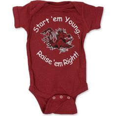 South Carolina Gamecocks Infant Onesie - start em your, raise em right