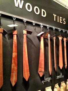 I love this wooden tie idea