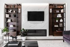 #Touché collection by #Inalco has been used to design this wonderful #fireplace that also works as a #TVcabinet.