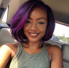 stunning purple hair