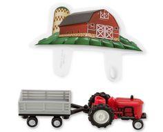 Farm Tractor & Trailer DecoSet® Cake Topper (sku: 15333)