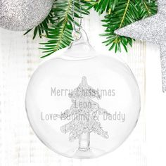 The 7 best Engraved Glass Baubles images on Pinterest | Christmas ...