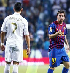 CR7 vs. Messi. If this was a contest based on looks... Ok, Cristiano wins but Leo takes the cake on the field.