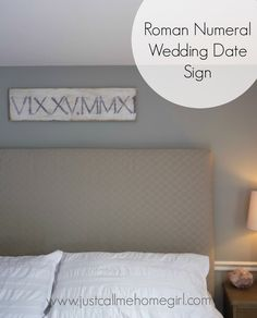 roman numeral wedding date sign, bedroom ideas, crafts, how to, wall decor Bedroom Wall, Bedroom Decor, Wall Decor, Master Bedroom, Bedroom Ideas, Wall Art, Wedding Date Sign, Wedding Gifts, Roman Numerals