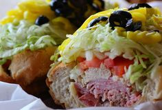 It's not a sub it's a grindah (grinder) - theo ones we had in Maine in the 1960s featured shaved cabbage, not lettuce