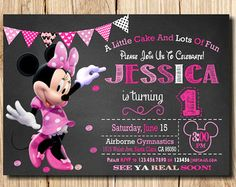 MINNIE MOUSE INVITATION 3rd Birthday Invitation by mymyparty