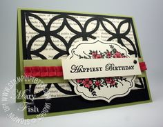 by Mary Fish, Stampin' Pretty ---- SU: Apothecary Art and Lattice Die