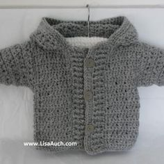 My Favourite FREE Crochet Cardigan Patterns and Crochet Sweater Patterns for Baby also link to videos  #crochet sweater baby