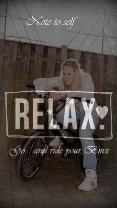 RelaX ride BMX BMX Lady. Bicycles Love Girls.